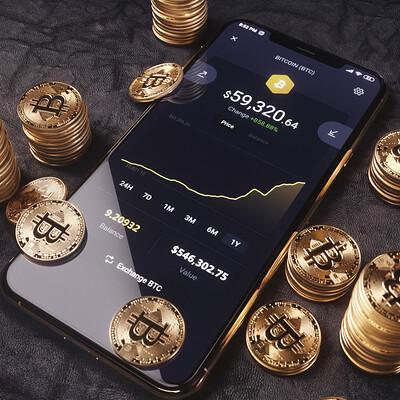 Bitcoin 3D Model & Renders.