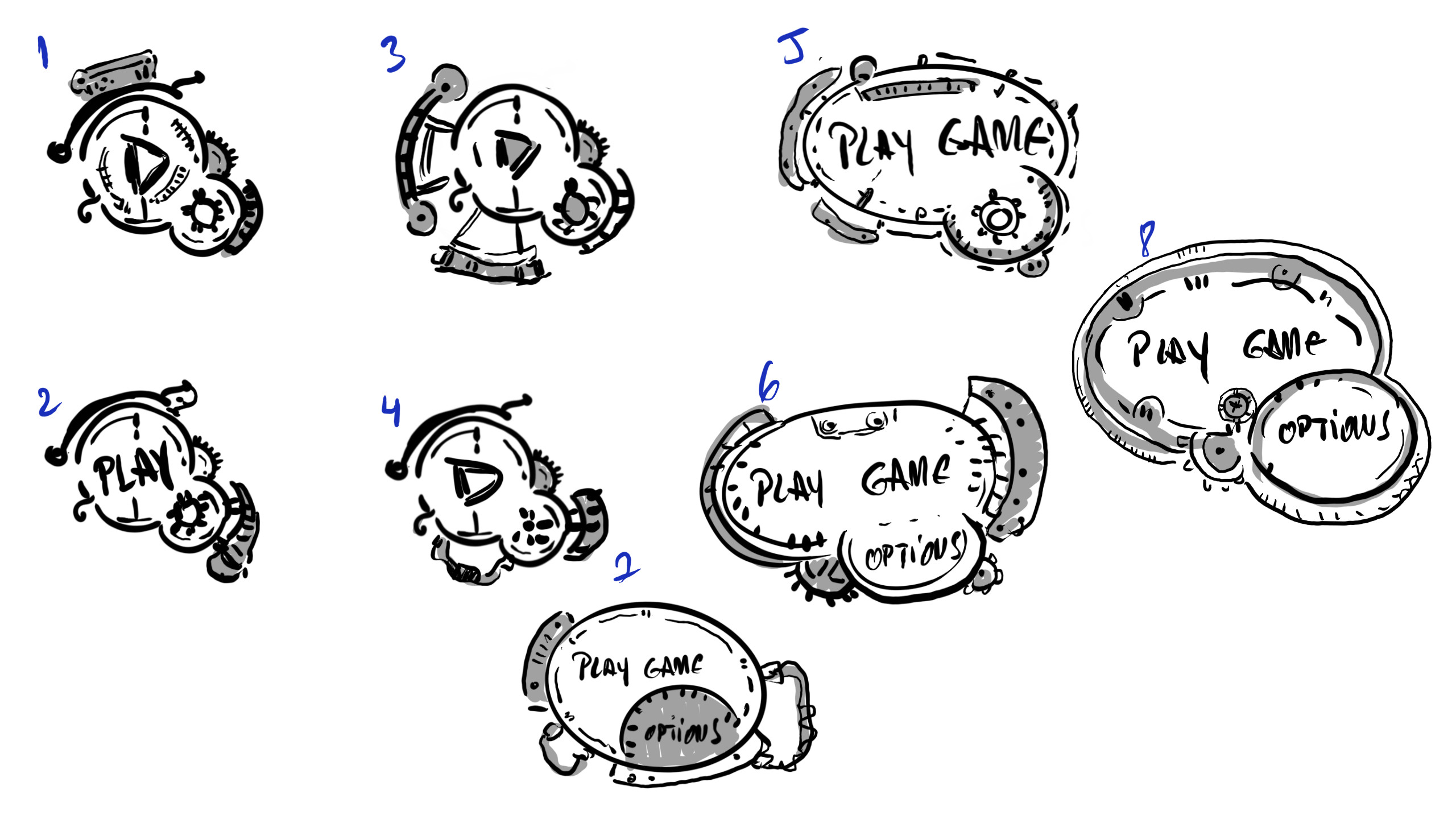 Start Buttons concept sketches