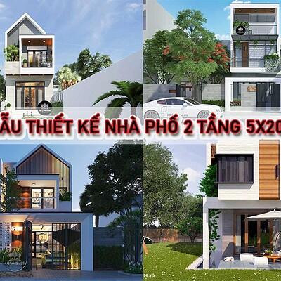 Neohouse architecture mau thiet ke nha ong 2 tang 5x20m anh bia