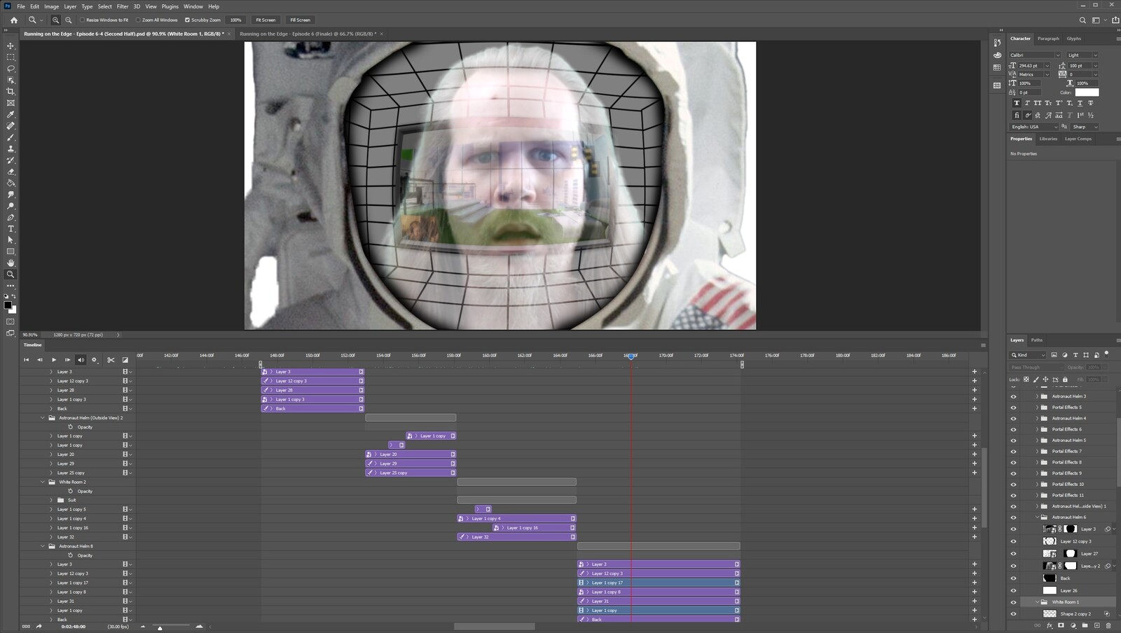 """The """"2020: A Time Oddity, Part 7"""" visual effect within Photoshop video editor"""