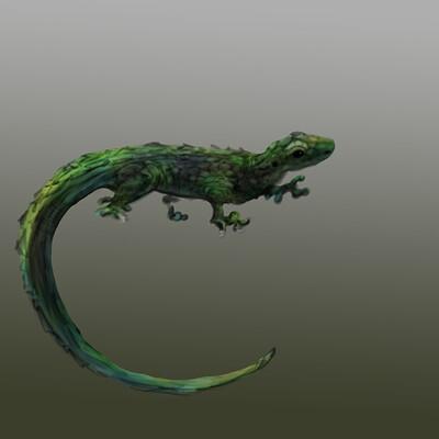 Scarlett shearwood little lizard