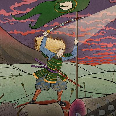 Ergo art eowyn vs the witch king of angmar final 300 dpi 222244444
