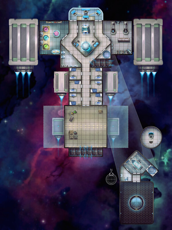 Oliphaunt Ship Interior Map