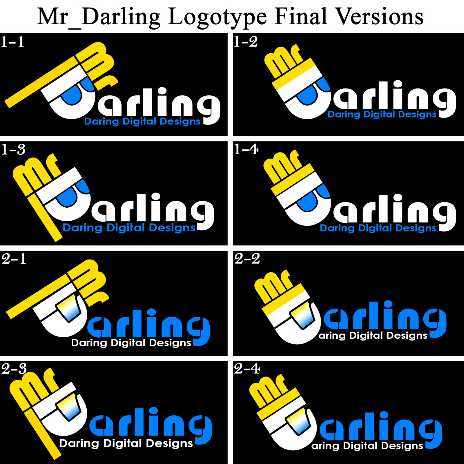 Fourth Round of Mr_Darling Logotype Concepts