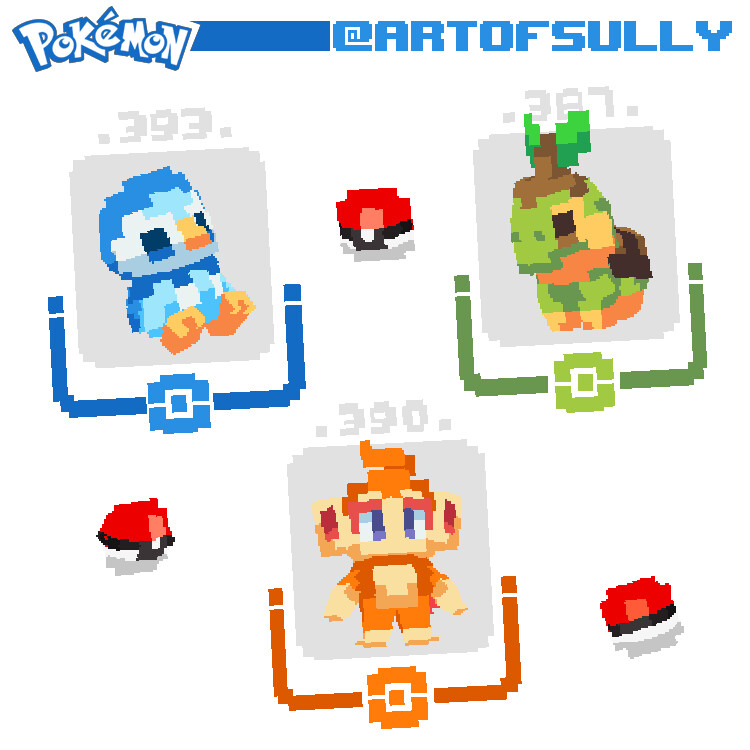 Pokémon - Sinnoh Starters