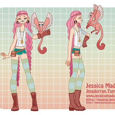 Jessica madorran patreon march 2021 character of the month explorer artstation01