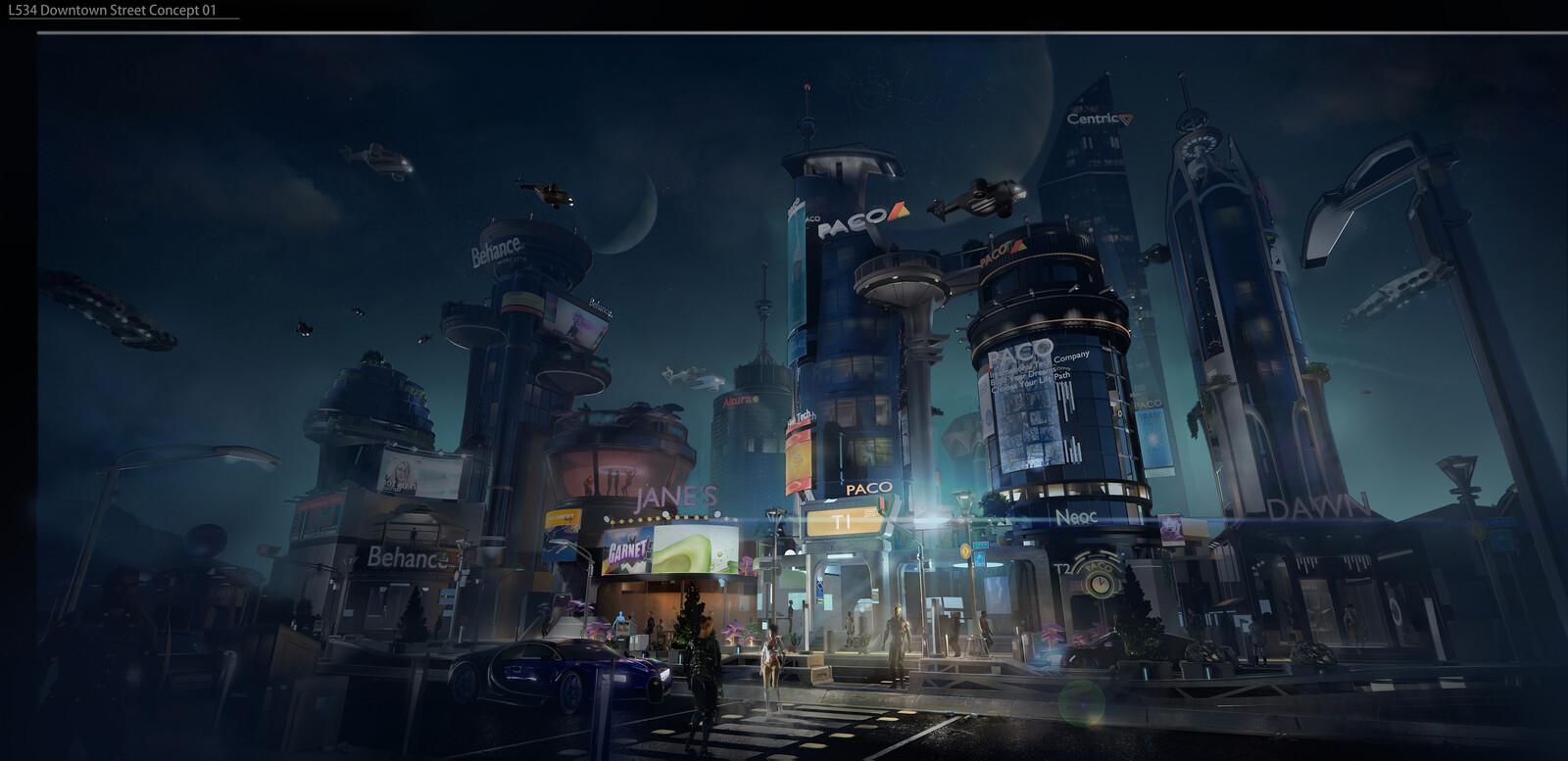 Planet L534 Sci-fi Concepts