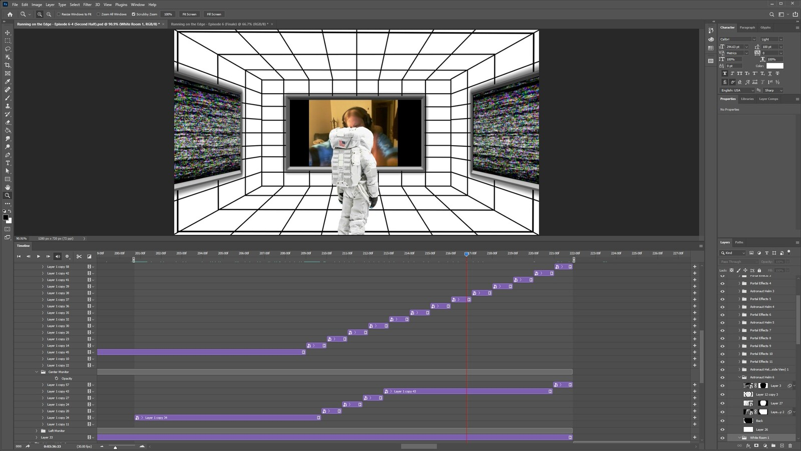 """The """"2020: A Time Oddity, Part 9"""" visual effect within Photoshop video editor"""
