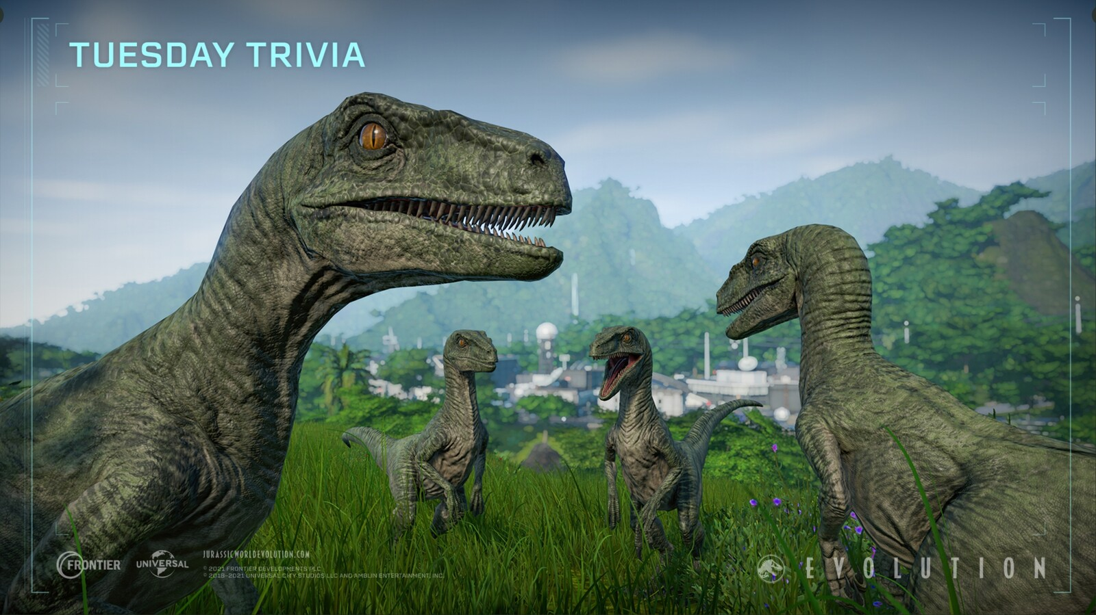 Jurassic World Evolution - Tuesday Trivia Raptors