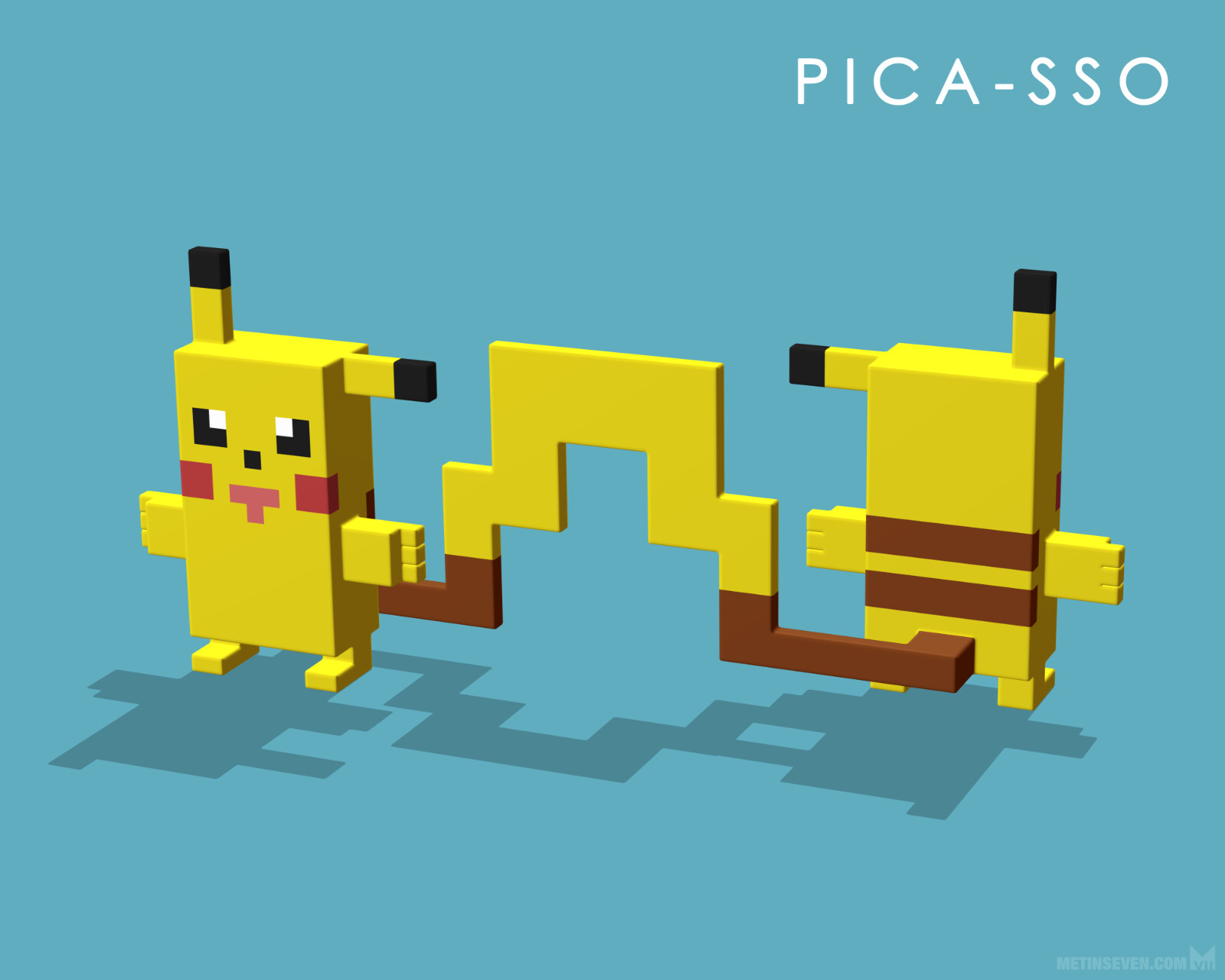 Pica-sso, or what would happen if Picasso would paint a Picachu from Pokemon 😉