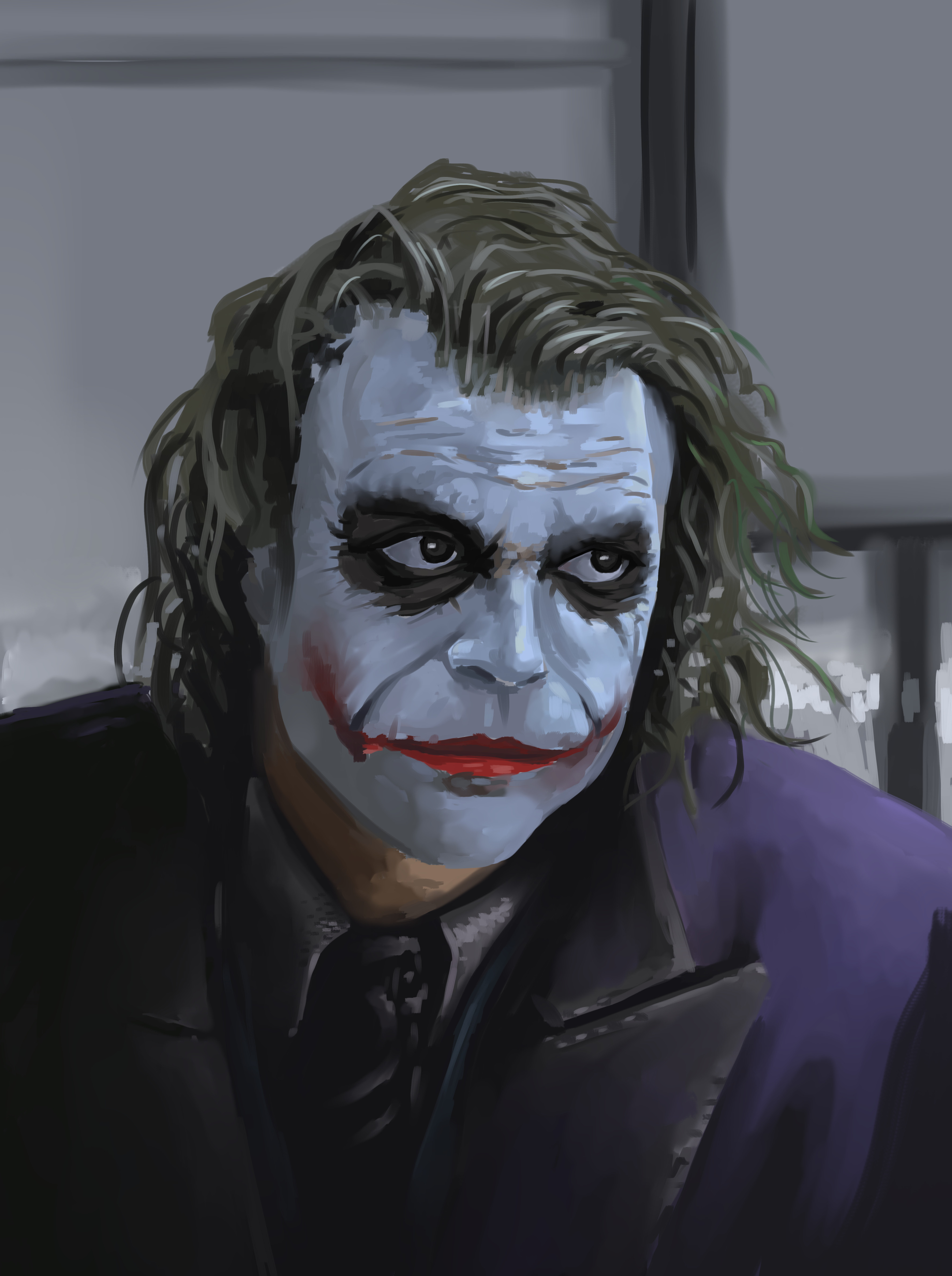 The Joker reviewing some life choices.