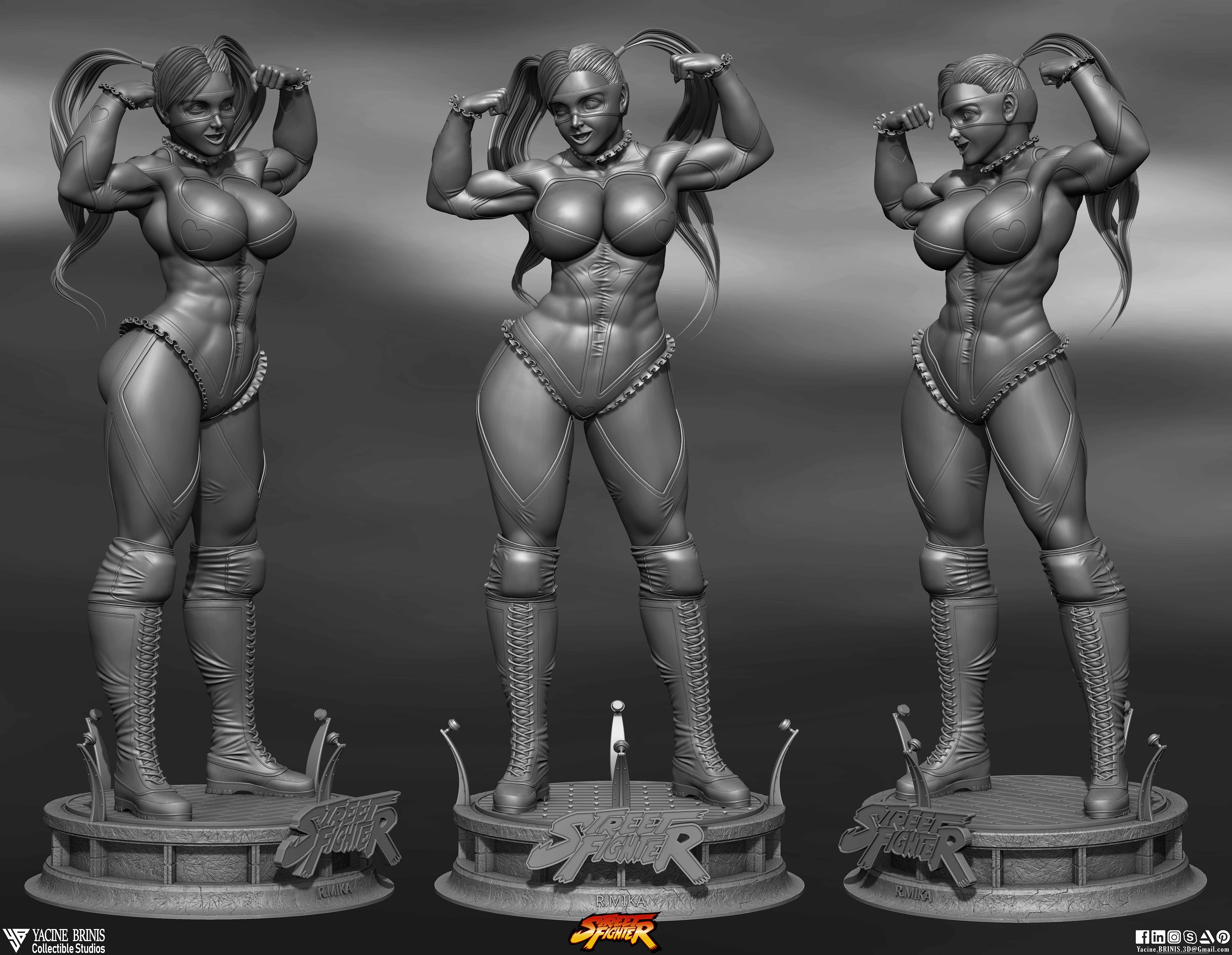 R-Mika Street Fighter-sculpted By Yacine BRINIS Set 04- R 001