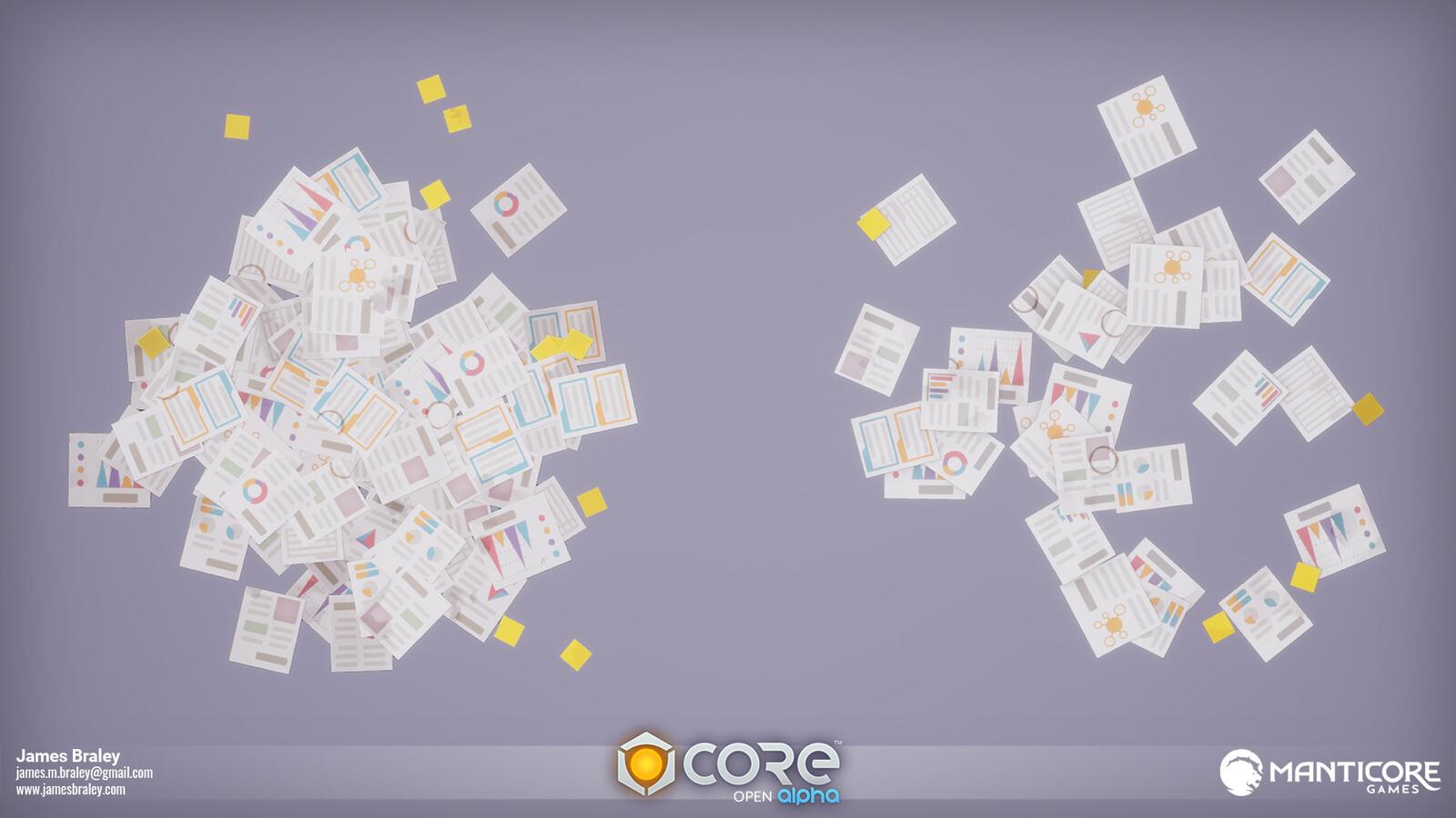 Office Floor Debris Decals (Concepts by Jordan Louie)