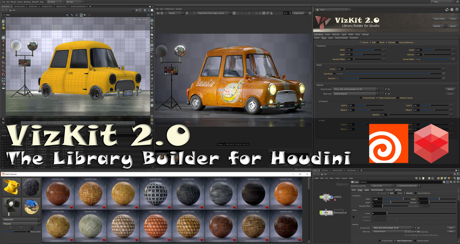 VizKit, The Library Builder for Houdini and Redshift