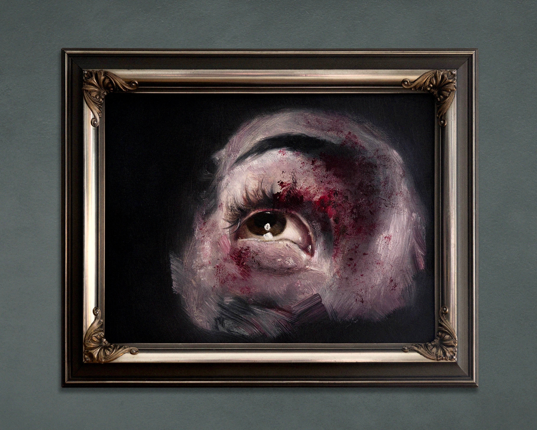 Oil on glass – 29 x 23 cm.