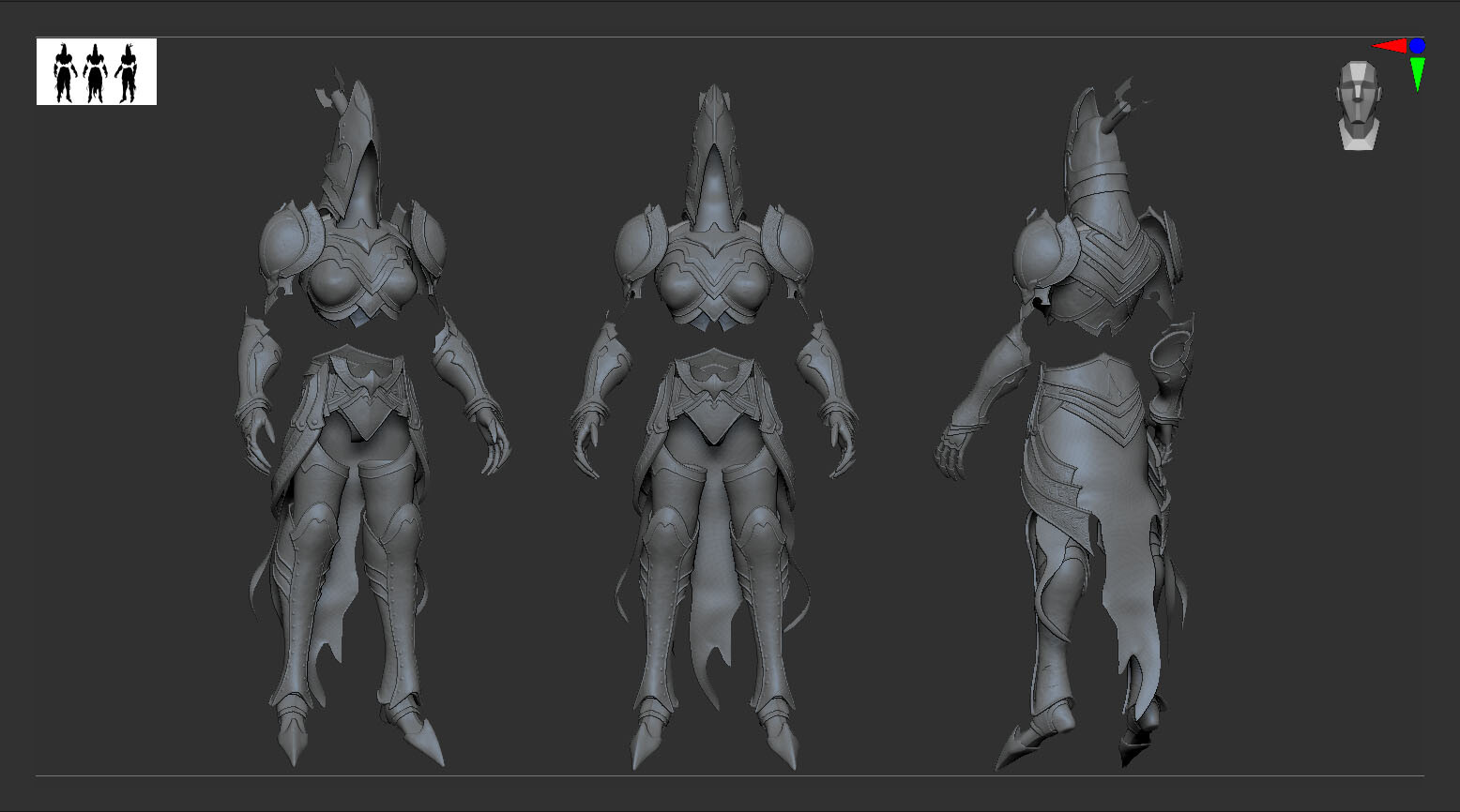 High poly sculpt - ZBrush viewport