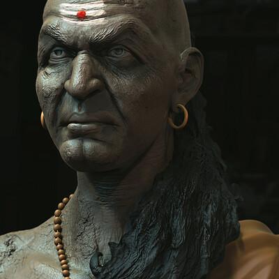 Surajit sen chanakya digital sculpture surajitsen april2021 al