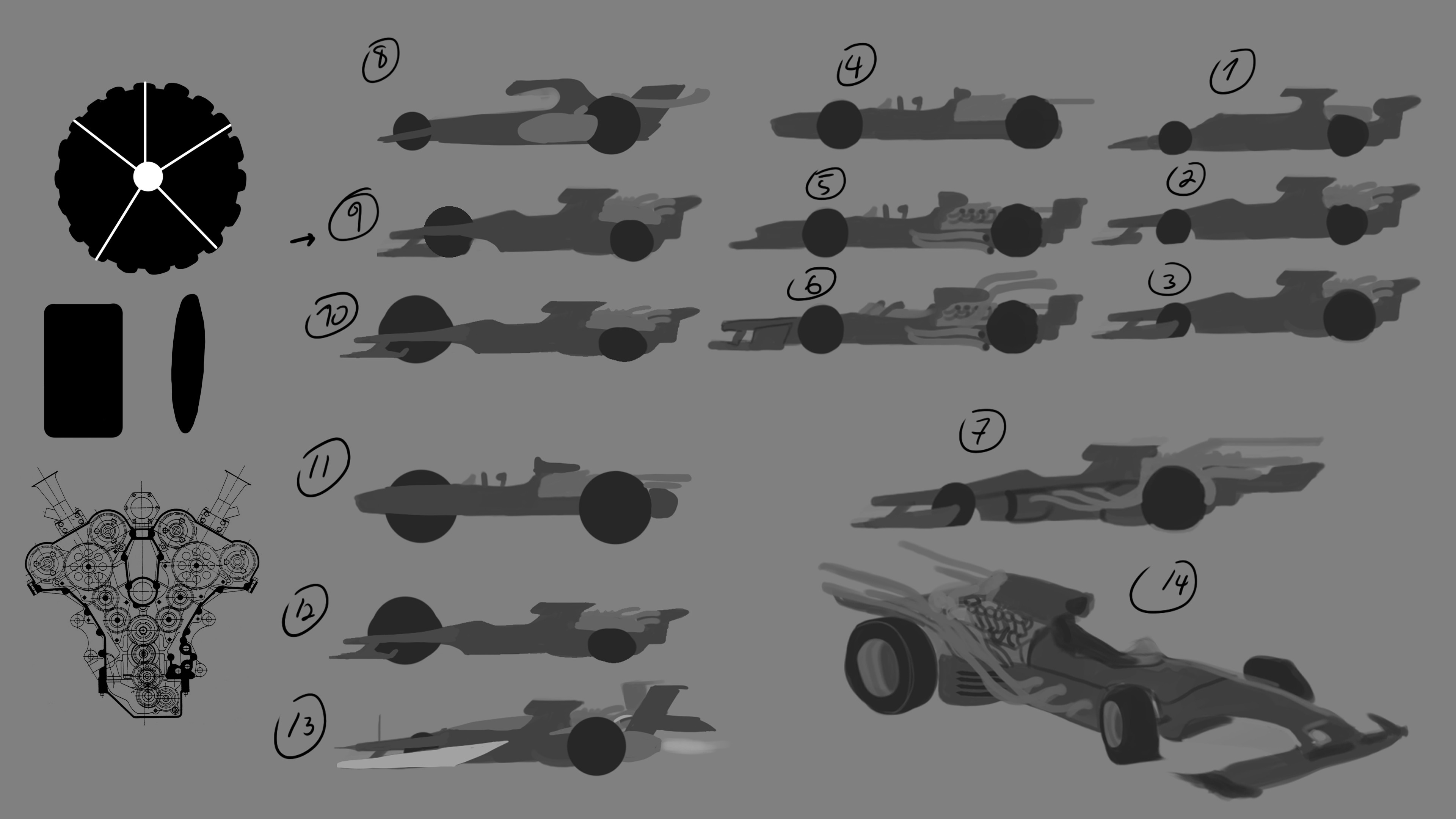 early exploration, formula 1 for underground racing