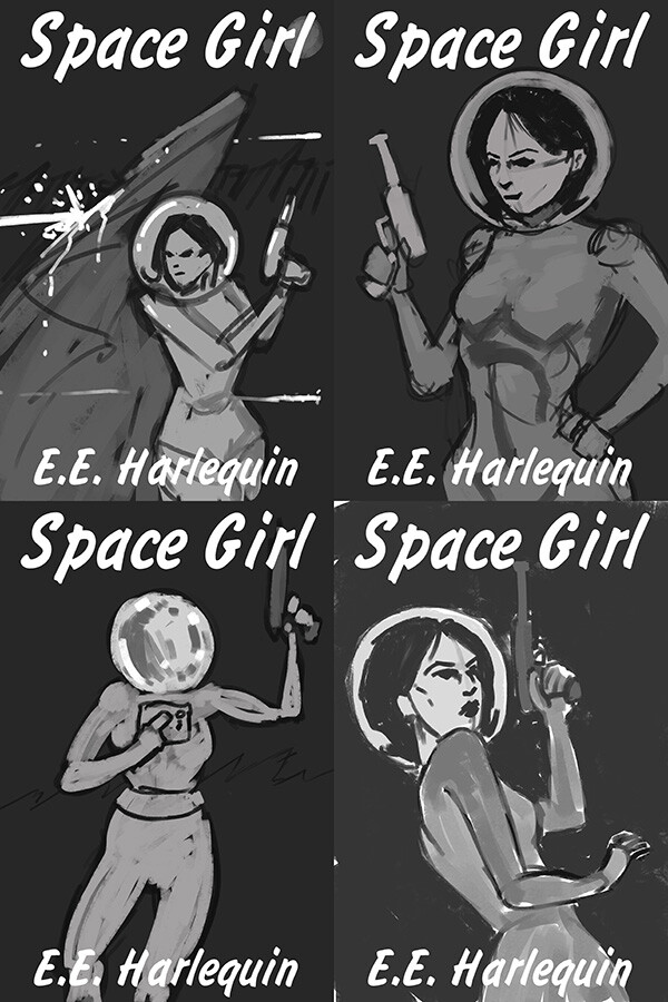 Space Girl Thumbnails