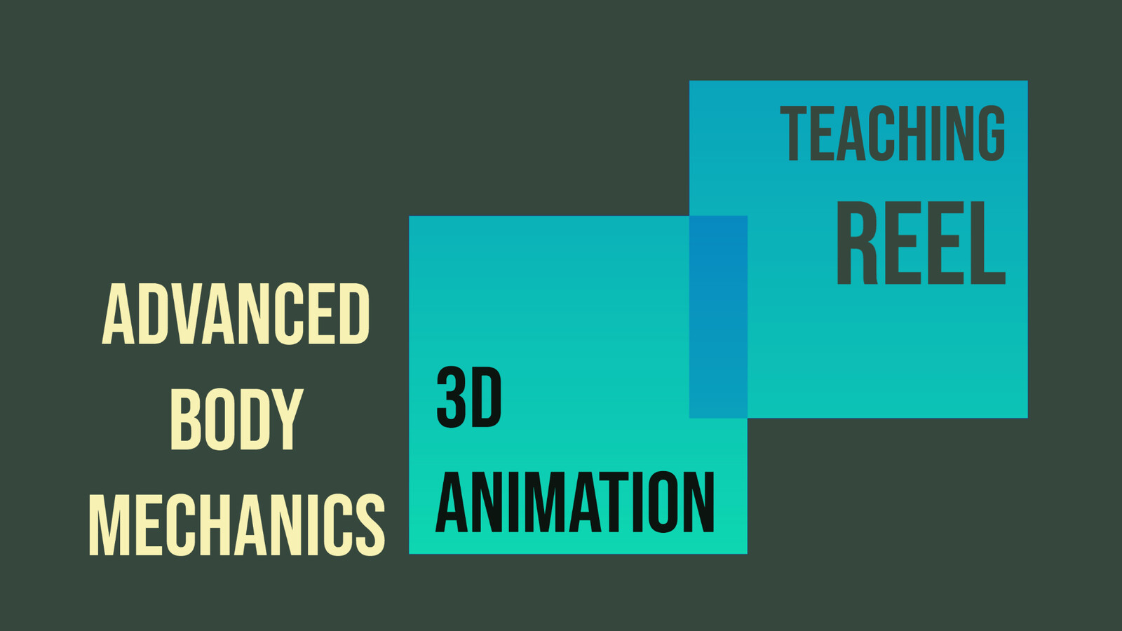 Advanced Body Mechanics. 3D Animation Teaching Reel, with Froggy Hearth Studio from Moldova/UK