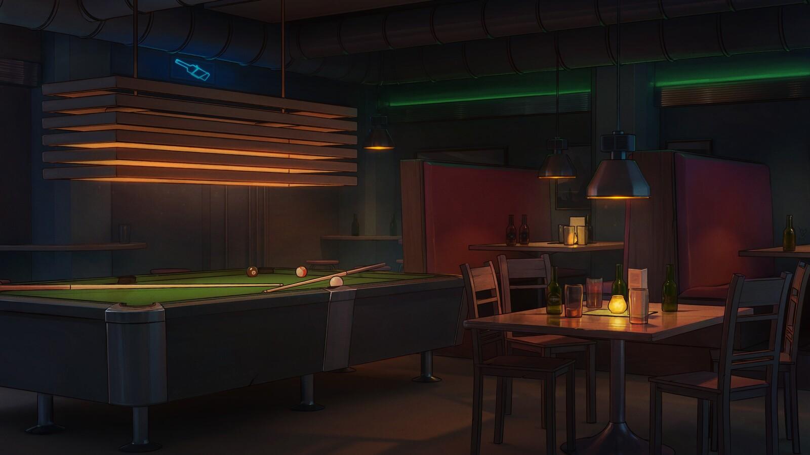 Visual novel Backgrounds - Bar & Cafe