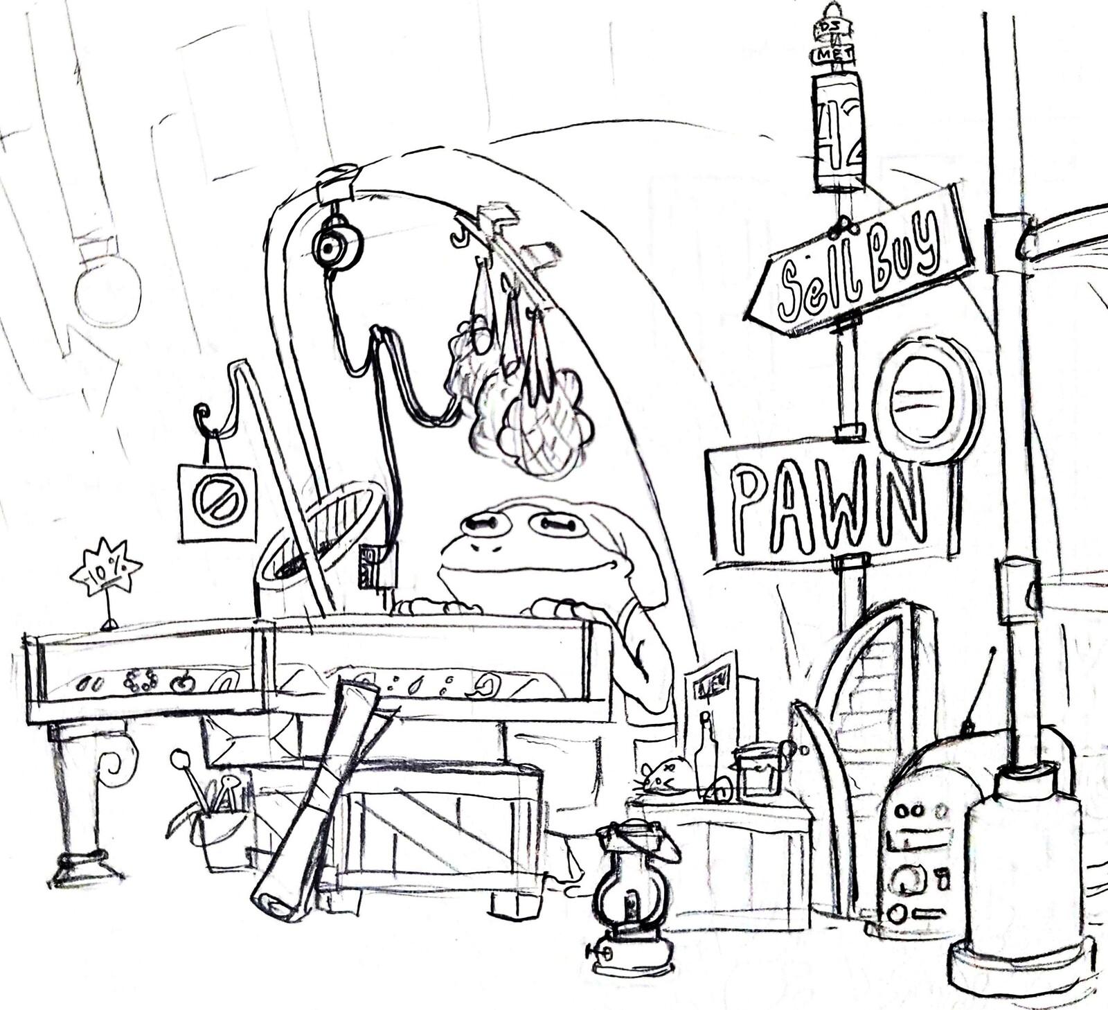 Sketchbook - Pop Up Pawn Shop