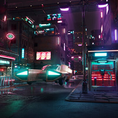 Mizuri cyberpunk city