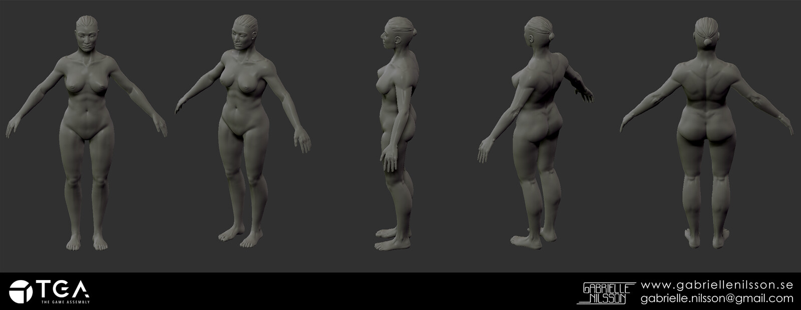 First attempt at a realistic body, sculpted in zBrush.