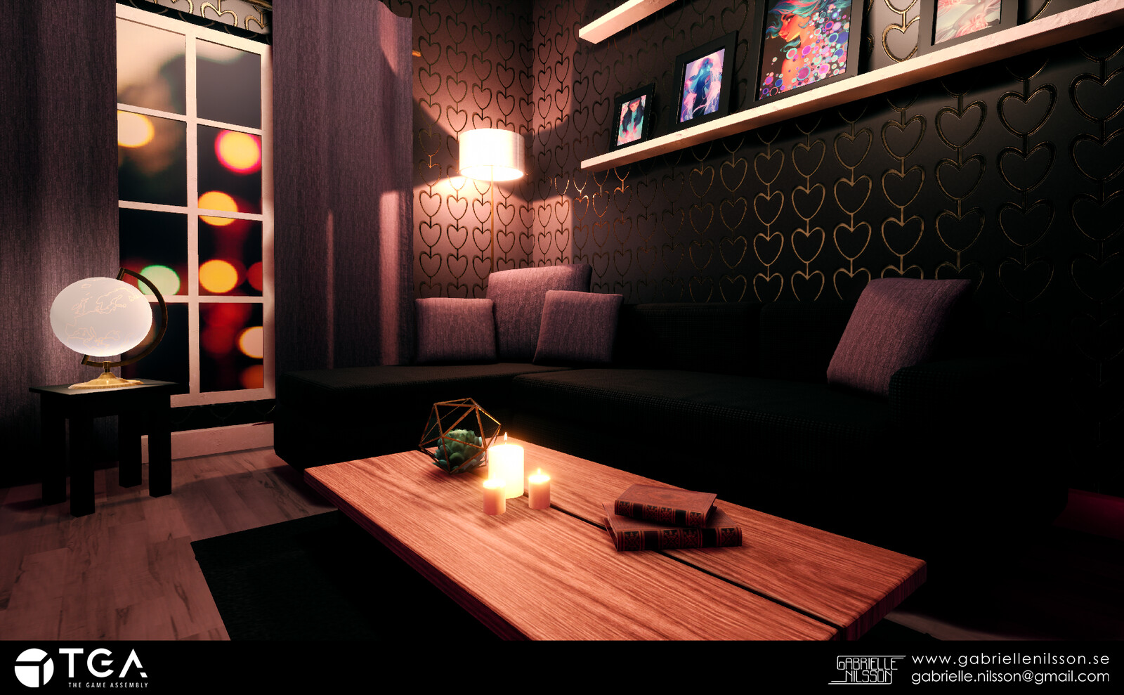 My first real environment. Rendered in Unreal. I was very proud of this at the time and it was another milestone in my 3D journey. In the frames you can see art from the amazing Lois van Baarle.
