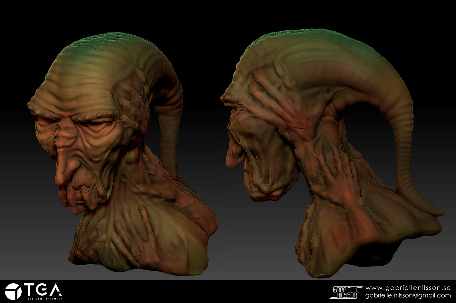 Monster assignment! My first real zbrush sculpt, and one I still like!