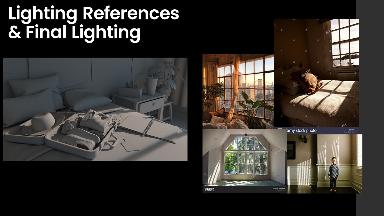 Final lighting and reference