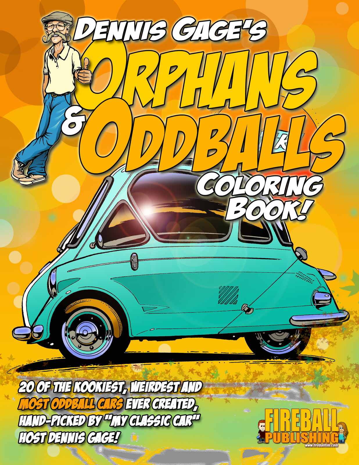 Dennis Gage's ORPHANS & ODDBALLS Coloring Book