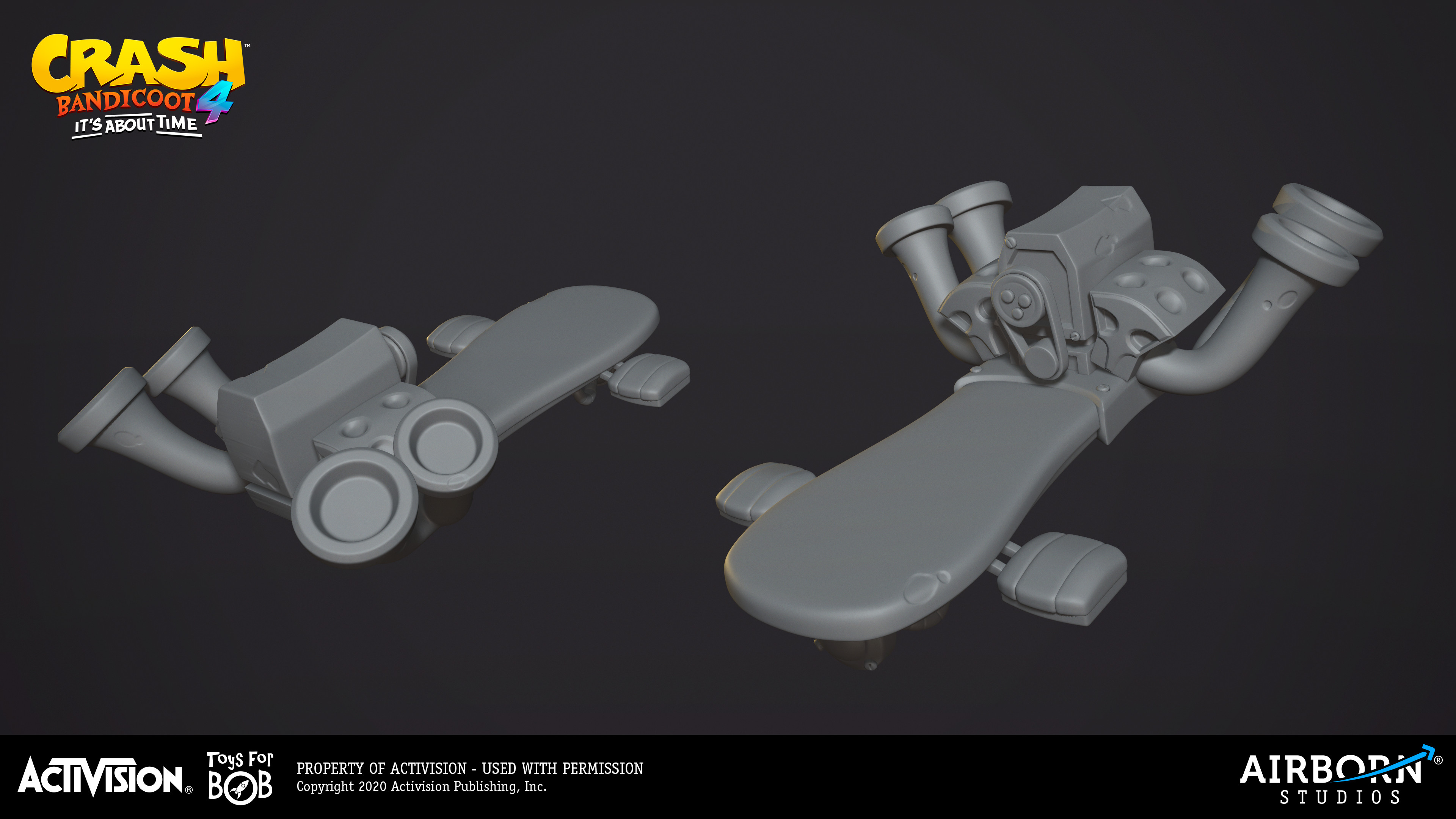Classic Swamp Hoverboard high-poly done by Florentine Postema. Concept provided by Toys for Bob.