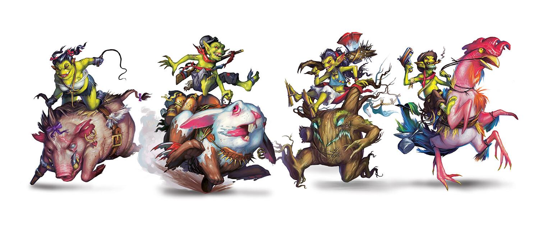 Bayou Bash Characters