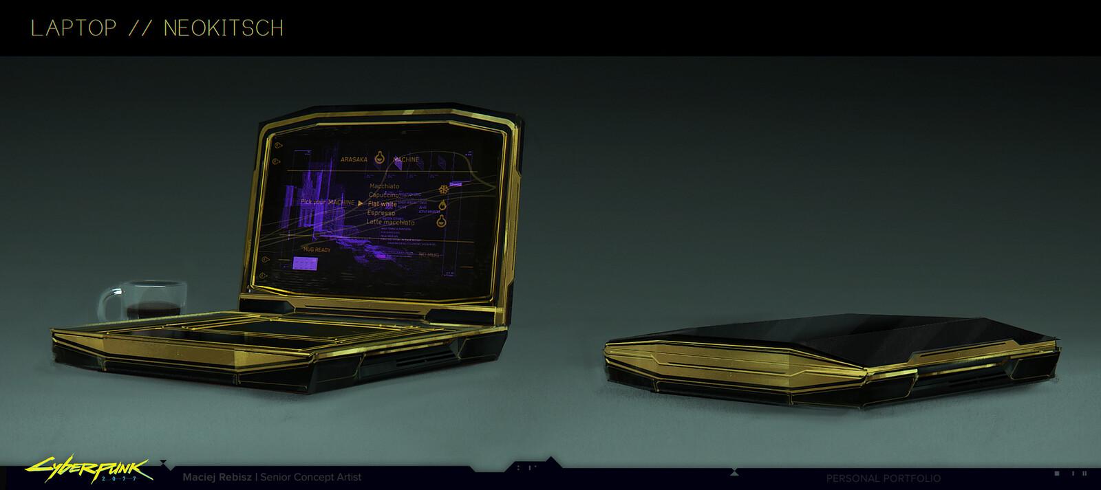 Neokitsch laptop