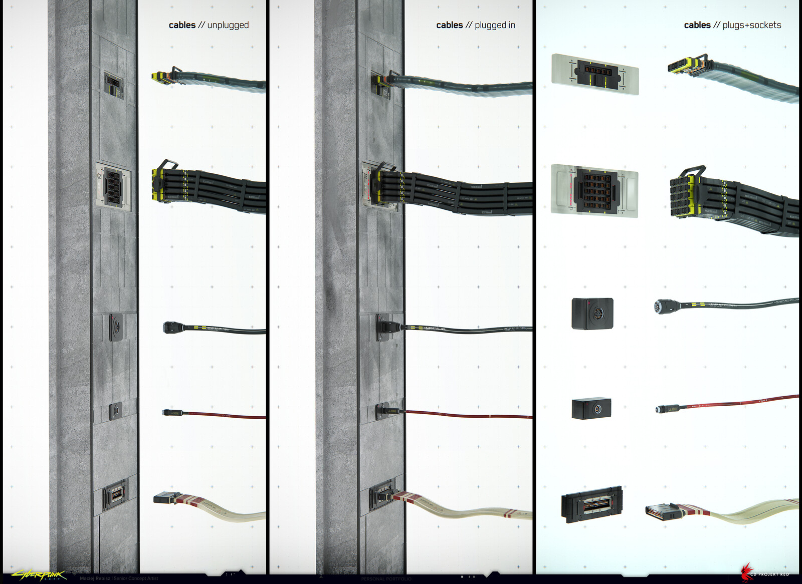 Cables, sockets, plugs