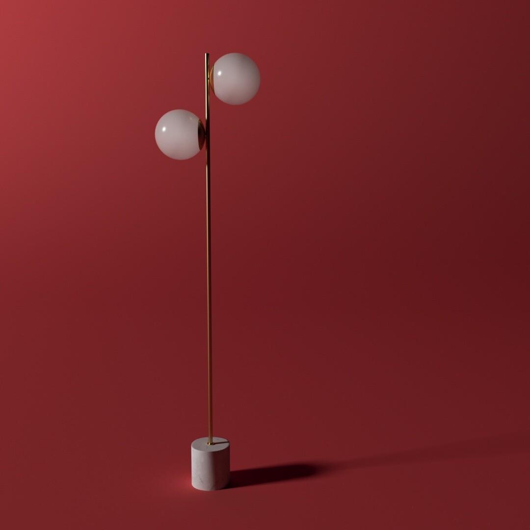 Sphere & Stem Floor Light