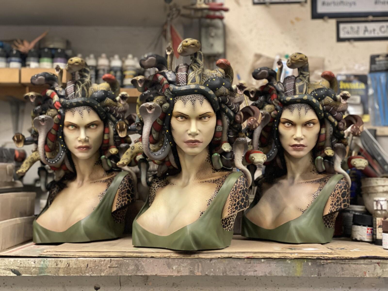 Gorgon Bust Art Statue  https://www.solidart.club
