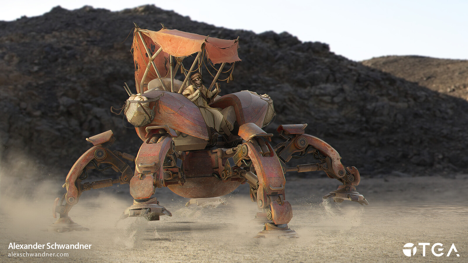 A personnel carrier used by nomads on a distant desert planet.