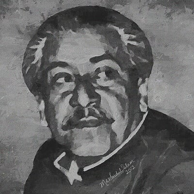Md saidul islam 15 portrait of bangabandhu sheikh mujibur rahman