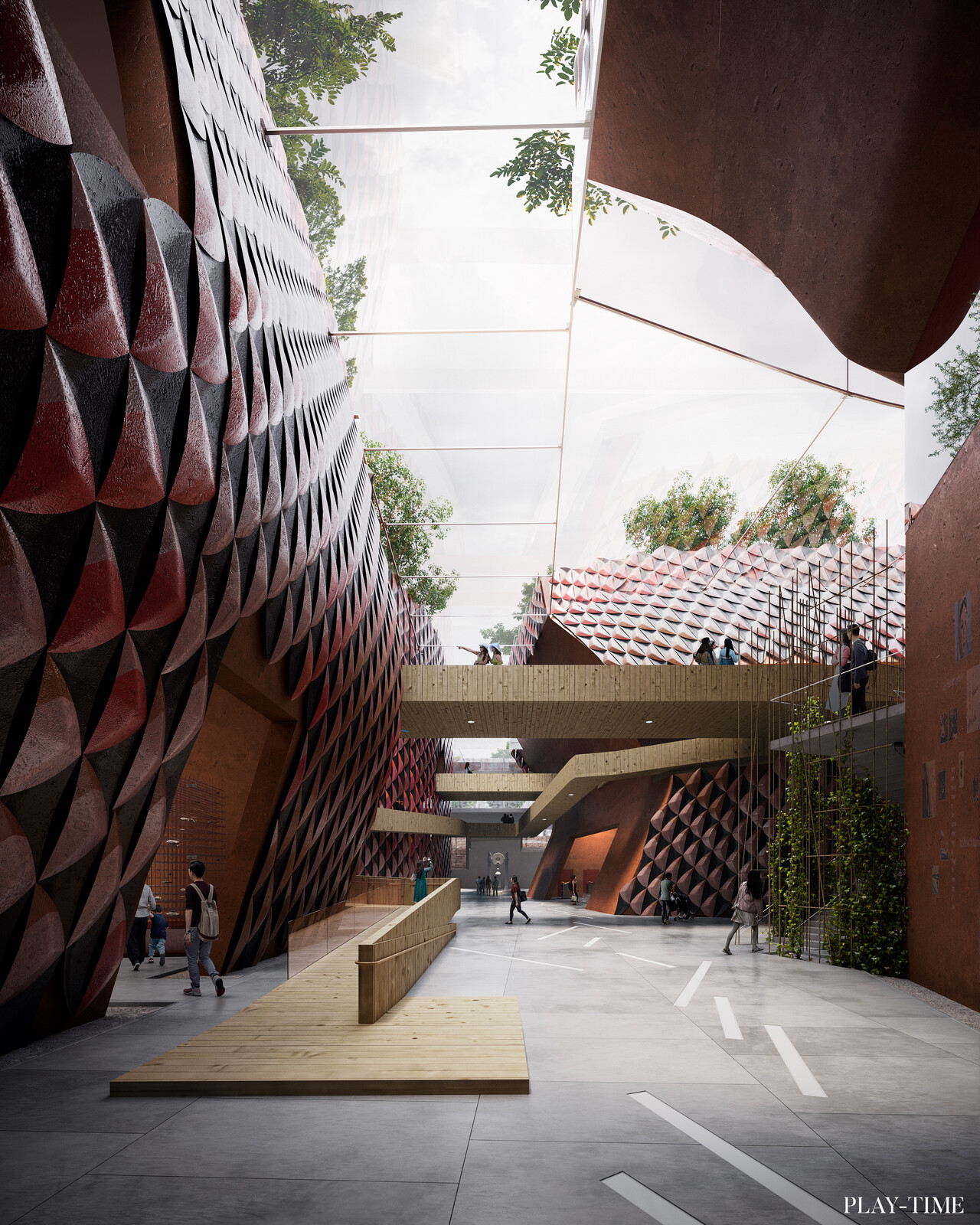 New Luxian Archeology Museum designed by EMBT. Image by PLAY-TIME