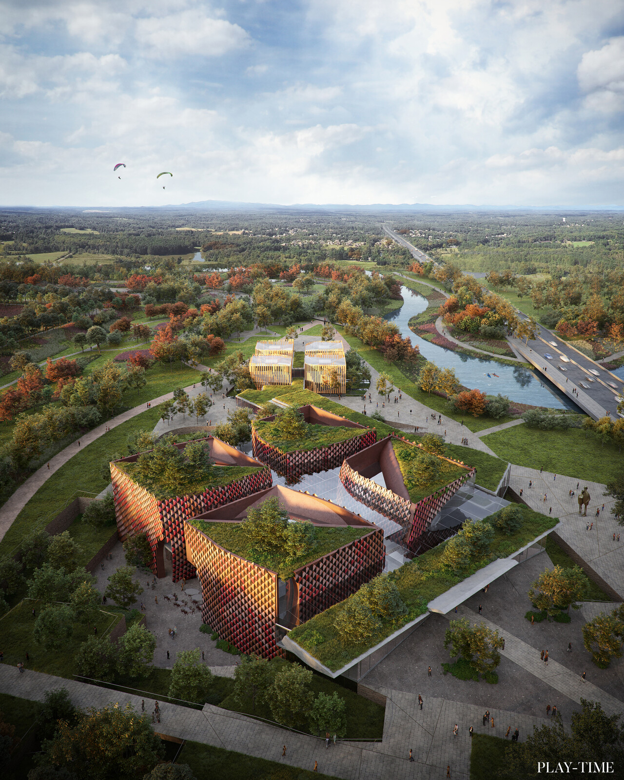 New Luxian Archeology Museum designed by EMBT. Image by PLAY-TIM