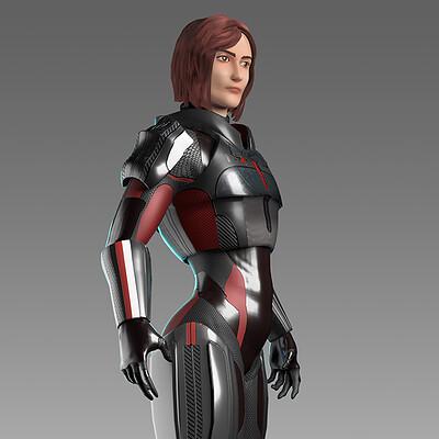 Commander Shepard turnaround
