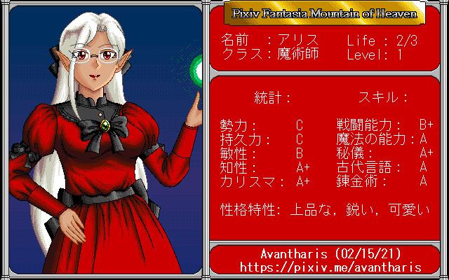 Alice Character Sheet 1