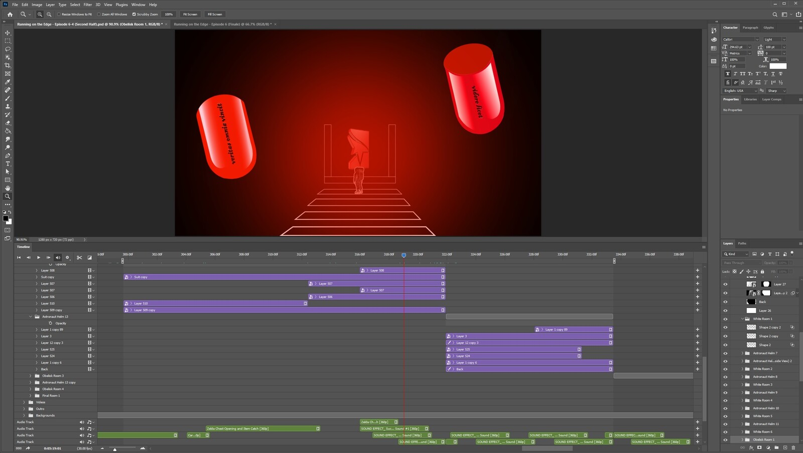 """The """"2020: A Time Oddity, Part 13"""" visual effect within Photoshop video editor"""