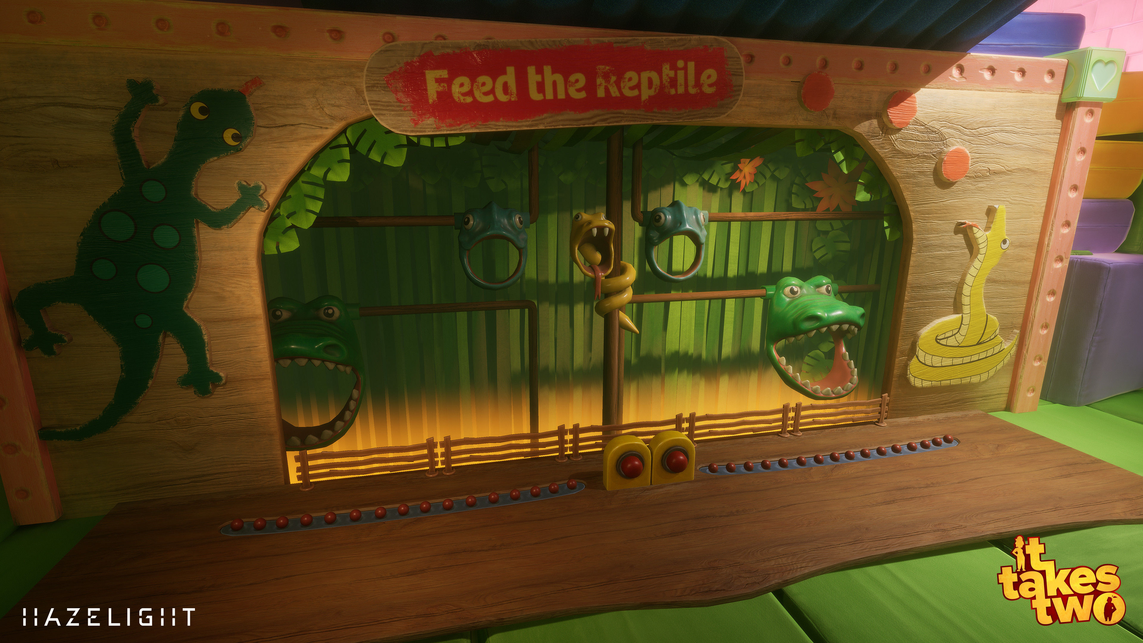 Feed the Reptile mini game in Hopscotch.