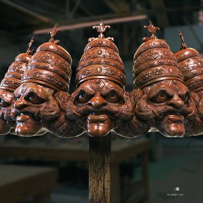 Surajit sen ravan digital sculpture surajitsen april2021al