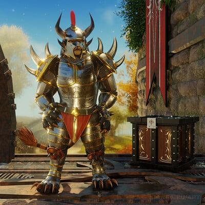 Ferox Blackmane - Blood Legion Armor