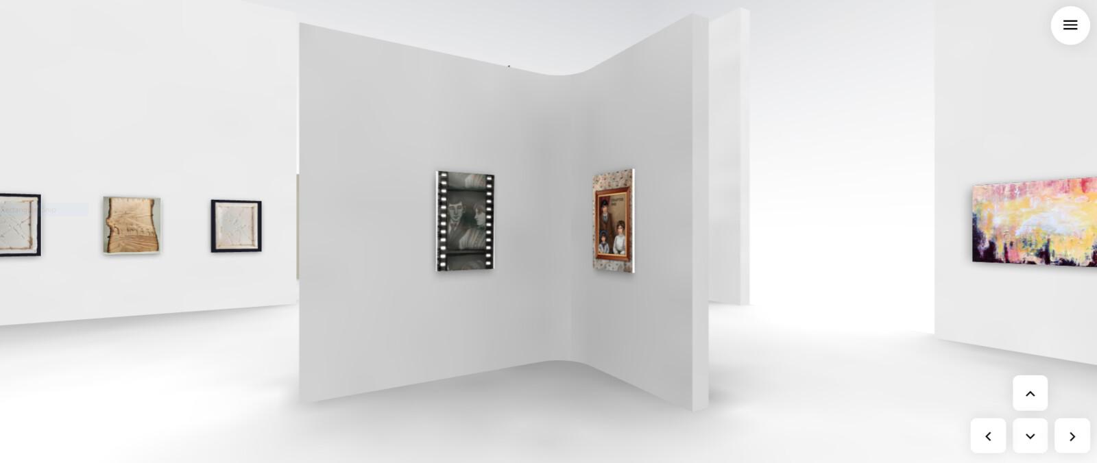 The corner in NOSTALGIA featuring my artwork.