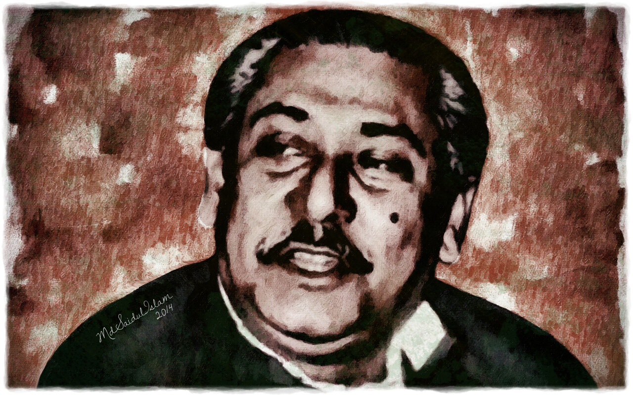 The great leader of the Bangalees, Bangabandhu Sheikh Mujibur Rahman  License: Creative Commons Attribution-Noncommercial-No Derivative Works 3.0 License